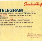 Telegram from Tanglewood, Boston Symphony Orchestra, 1967